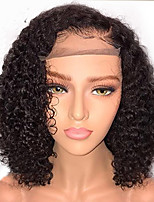 cheap -Human Hair Lace Front Wig Brazilian Hair Curly Bob Haircut With Baby Hair 130% Density Unprocessed 100% Virgin African American Wig