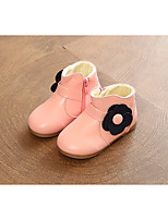 cheap -Girls' Shoes Leatherette Spring Fall Comfort Snow Boots Boots Booties/Ankle Boots for Casual Pink Red Gray Black