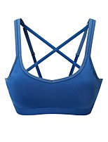cheap -Women's Light Support Sports Bras Stretchy Sports Bra for Running/Jogging Nylon Blue White L M S XS