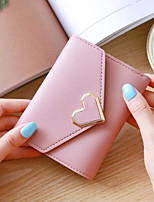 cheap -Women Bags PU Wallet Pockets for Casual All Season Light Purple Gray Blushing Pink Red Black