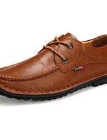 cheap -Men's Shoes Cowhide Spring Fall Comfort Oxfords for Casual Light Brown Camel Black