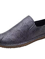 cheap -Men's Shoes PU Spring Fall Comfort Loafers & Slip-Ons for Casual Red Gray Black