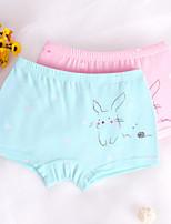 cheap -Girls' Solid Spots & Checks All Seasons Underwear, Cotton Blue Blushing Pink Yellow