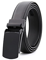 cheap -Men's Leather Waist Belt,Black Work Casual Solid