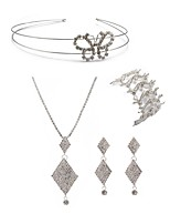 preiswerte -Damen Kopfbedeckung Braut-Schmuck-Sets Strass Europäisch Modisch Hochzeit Party Diamantimitate Aleación Geometrische Form Schmetterling