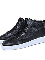 cheap -Men's Shoes PU Winter Fall Comfort Light Soles Sneakers for Casual Outdoor Green Black White