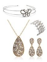 cheap -Women's Headwear Bridal Jewelry Sets Rhinestone Fashion European Wedding Party Imitation Diamond Alloy Drop Butterfly Body Jewelry 1