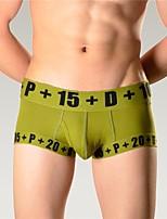 economico -Per uomo Boxer Sottile,Media elasticità Semplice,Cotone 1 Bianco Arancione Blu marino Grigio Verde militare