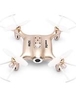 economico -RC Drone SYMA HY21W Gold 4 Canali 6 Asse 2.4G Con la macchina fotografica 0.3MP HD Quadricottero Rc WIFI FPV Illuminazione LED Tasto
