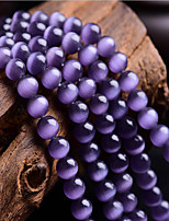 cheap -DIY Jewelry 46 pcs Beads Synthetic Gemstones Purple Round Bead 0.8 DIY Bracelet Necklace