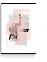 Недорогие -Масляные картины Предметы искусства,Полистирен материал с рамкой For Украшение дома Предметы искусства в рамках Гостиная В помещении