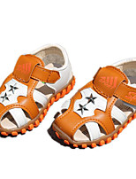 cheap -Boys' Girls' Shoes Leatherette Spring Fall Comfort First Walkers Sandals for Casual Blue Brown