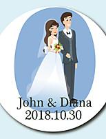 economico -Floreale Adesivi, etichette e Tag - 10 Circolare Busta Sticker
