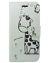 Недорогие -Кейс для Назначение Apple iPhone X iPhone 8 Бумажник для карт Кошелек со стендом Флип Чехол Мультипликация Животное Твердый Кожа PU для
