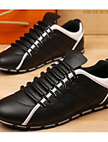 cheap -Men's Shoes PU Spring Fall Comfort Oxfords for Casual Blue Black White