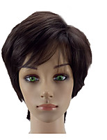 cheap -Women Dark Brown Synthetic Wig Short Straight Natrural Hair Wigs Pixie Hair Style