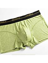 economico -Per uomo Boxer Medio spessore,Media elasticità Tinta unita,Cotone 3 pezzi Verde Bianco Grigio