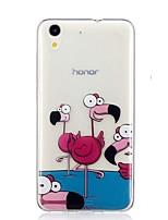 abordables -Coque Pour Huawei Y6 II / Honor Holly 3 Nova Motif Coque Arrière Flamant Flexible TPU pour Huawei Y6 II / Honor Holly 3 Huawei Y5 II /