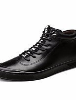 cheap -Men's Shoes Cowhide Spring Fall Combat Boots Comfort Boots Booties/Ankle Boots for Casual Black