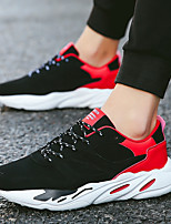 cheap -Men's Shoes PU Suede Spring Fall Comfort Light Soles Sneakers for Casual Outdoor Black/Red Black/White Gray Black