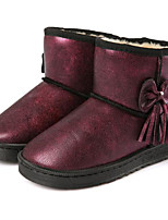 cheap -Girls' Shoes Other Animal Skin Winter Fall Comfort Snow Boots Boots Booties/Ankle Boots for Casual Burgundy Green