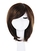 cheap -Synthetic Hair Wigs Wavy African American Wig Side Part Natural Hairline Pixie Cut Bob Haircut Lolita Wig Natural Wigs Cosplay Wig Brown