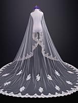 abordables -Une couche Mariée Mariage Voiles de Mariée Voiles cathédrale Avec Dentelle Tulle