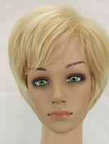 cheap -Synthetic Hair Wigs Straight Pixie Cut Natural Wigs Short Beige Blonde