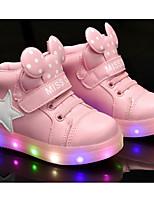 Недорогие -Девочки обувь Полиуретан Весна Осень Удобная обувь Кеды для Повседневные Белый Черный Розовый