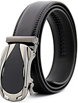 cheap -Men's Leather Alloy Waist Belt,Black Brown Party Work Casual Striped Solid Metal Pure Color