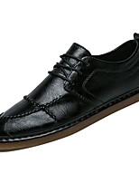 Недорогие -Муж. обувь Полиуретан Осень Удобная обувь Кеды для Повседневные Белый Черный Коричневый