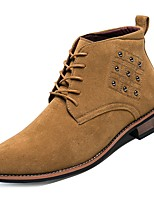 cheap -Men's Shoes PU Spring Fall Comfort Boots Rivet for Casual Black Brown