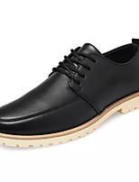 baratos -Homens sapatos Couro Ecológico Primavera Outono Conforto Tênis para Casual Preto Azul Escuro Marron