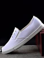 preiswerte -Herrn Schuhe Leinwand Sommer Herbst Komfort Sneakers für Normal Weiß Schwarz Grau