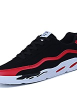 cheap -Men's Shoes Suede Spring Fall Comfort Light Soles Sneakers for Casual Outdoor Black/Red Black/White Black