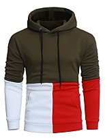 cheap -Men's Sports Casual Color Block Round Neck Hoodie Regular,Long Sleeve Spring Cotton