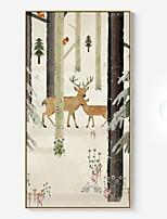 Недорогие -Абстракция Иллюстрации Предметы искусства,Полистирен материал с рамкой For Украшение дома Предметы искусства в рамках Гостиная