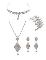 preiswerte -Damen Schmuck für die Stirn Braut-Schmuck-Sets Strass Europäisch Modisch Hochzeit Party Diamantimitate Aleación Geometrische Form