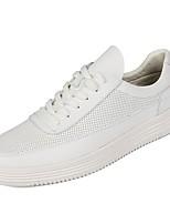 Недорогие -обувь Полиуретан Весна Осень Удобная обувь Кеды для Повседневные Белый Черный