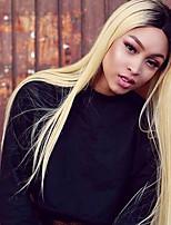 economico -4 pezzi Nero / Bleach Blonde Dritto Peruviano Tessiture capelli umani Extensions per capelli 0.4kg