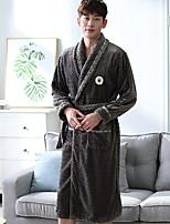 abordables -Costumes Pyjamas Homme,Couleur Pleine Epais Polyester Gris Vin