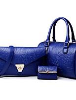 cheap -Women Bags PU Polyester Bag Set 3 Pcs Purse Set Zipper for Casual All Season Black White Gold Blue