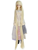 cheap -Synthetic Doll Accessories Very Long Straight Light Blonde Color Wig for 1/3 1/4 BJD SD DZ MSD Doll hair Not for Human Adult Wigs