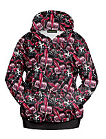 cheap -Men's Going out Hoodie Print Hooded Micro-elastic Polyester Long Sleeve Spring/Fall