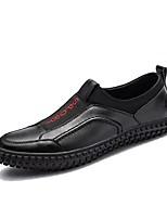 Недорогие -Муж. обувь Искусственное волокно Весна Осень Удобная обувь Мокасины и Свитер для Повседневные Черный Серебряный