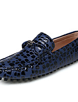 cheap -Men's Shoes Cowhide Leather Spring Summer Comfort Loafers & Slip-Ons for Casual Dark Blue Gray Red