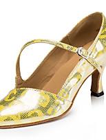 cheap -Modern Leatherette Sneaker Trim Stiletto Heel Gold Silver Gray Customizable
