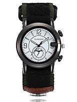 cheap -Men's Wrist watch Military Watch Fashion Watch Chinese Quartz Casual Watch Fabric Band Casual Black Green Beige Pool