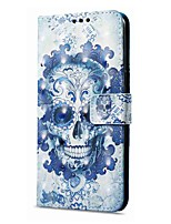 cheap -Case For OnePlus OnePlus 5T 5 Card Holder Wallet with Stand Flip Magnetic Pattern Full Body Cases Skull Hard PU Leather for One Plus 5