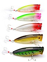 "cheap -6 pcs Fishing Lures Hard Bait Popper g/Ounce,75 mm/3"" inch,plastic Sea Fishing Trolling & Boat Fishing Lure Fishing Outdoor"